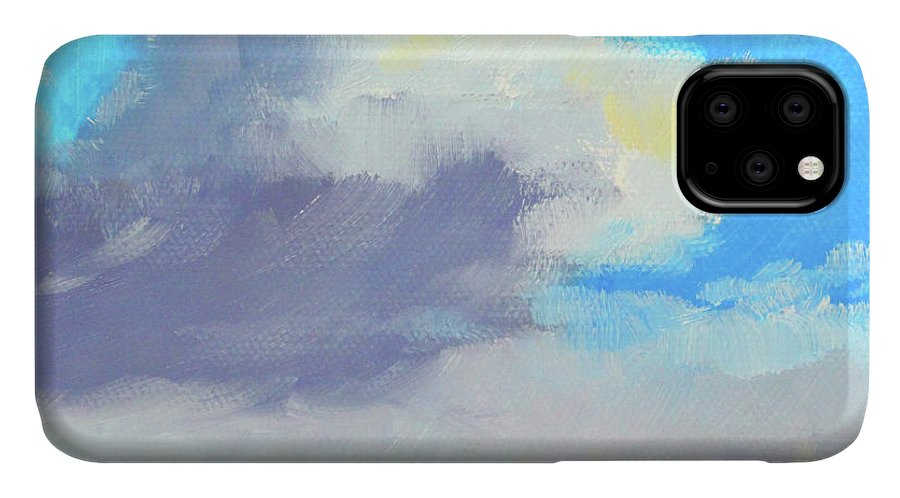 Ocean Sky IPhone Case featuring the painting Ocean Sky by Nancy Merkle
