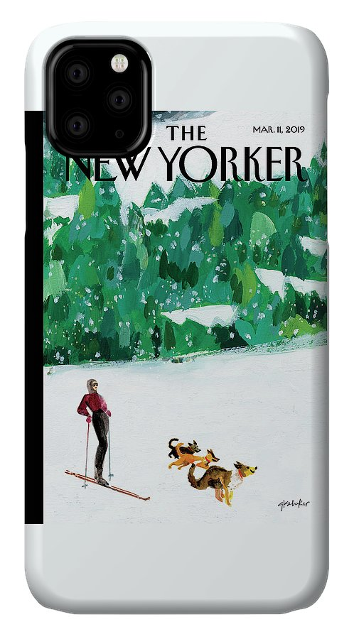 Skiing IPhone Case featuring the painting Off The Path by Gayle Kabaker