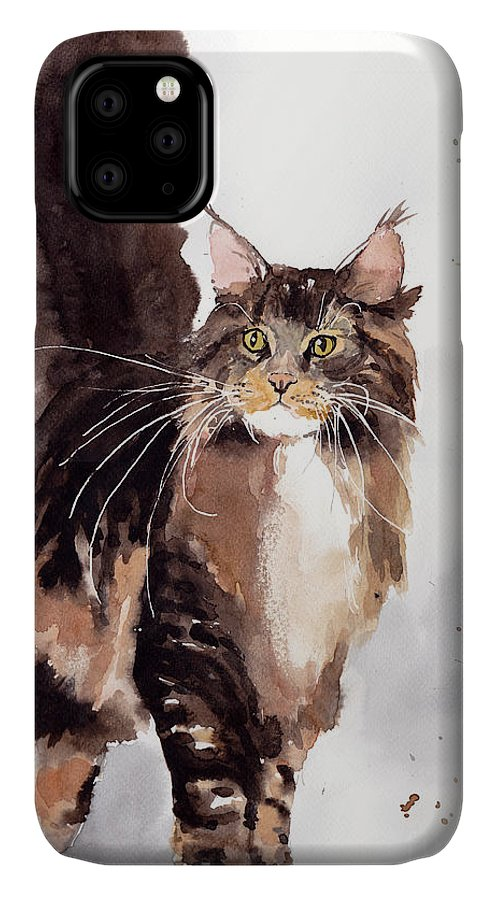 Little IPhone Case featuring the painting Oscar by Suzann Sines
