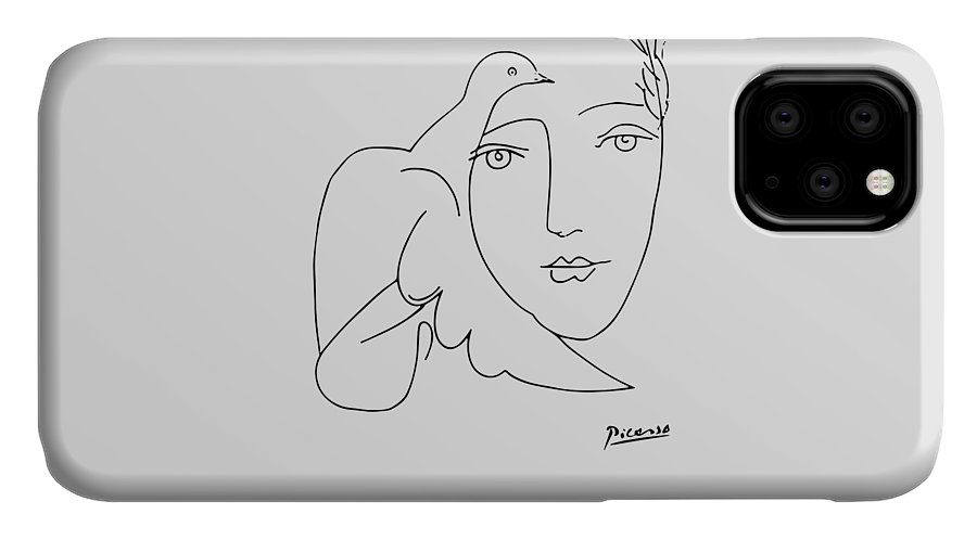 Pablo Picasso Dog (Lump) Artwork Sketch Reproduction iPhone 11 case
