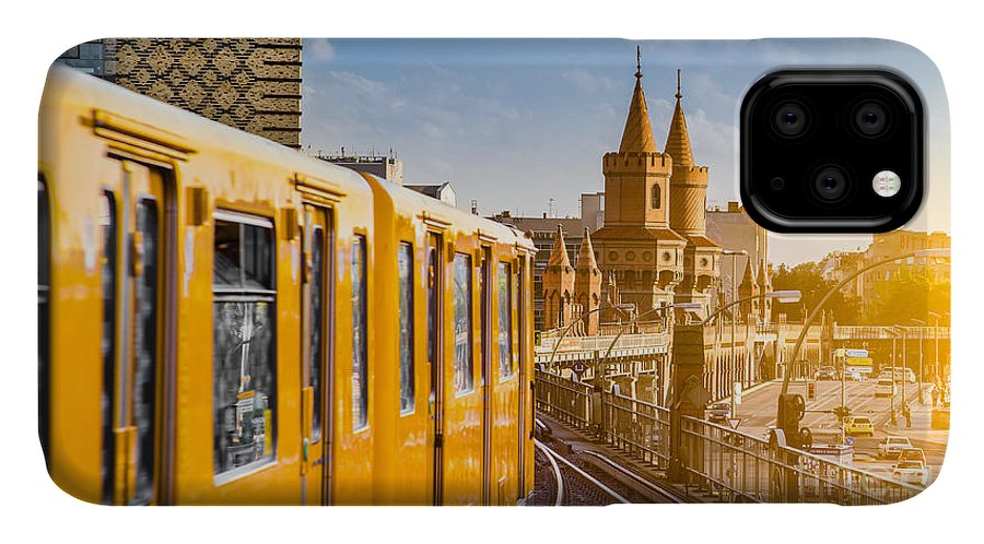 Flare IPhone Case featuring the photograph Panoramic View Of Berliner U-bahn With by Canadastock