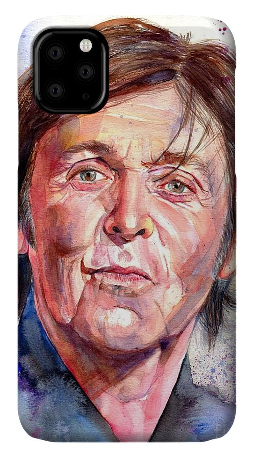 Paul IPhone Case featuring the painting Paul McCartney Watercolor by Suzann Sines