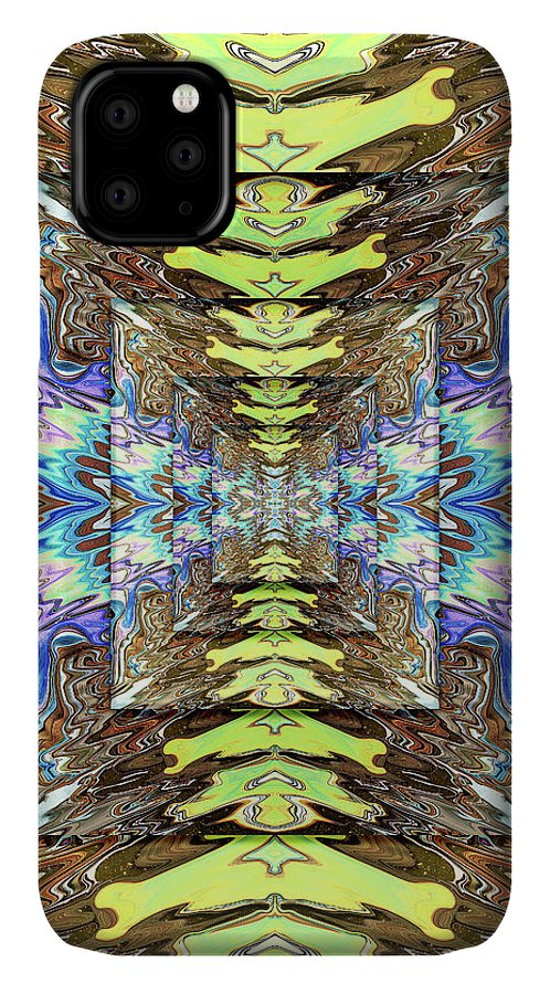 Abstract IPhone Case featuring the digital art Persistence of Time and Space by Jack Entropy