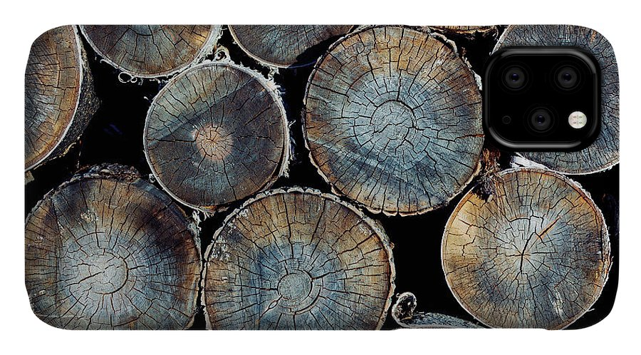 Forest IPhone Case featuring the photograph Pile Of Wood Logs Ready For Winter by Zastolskiy Victor