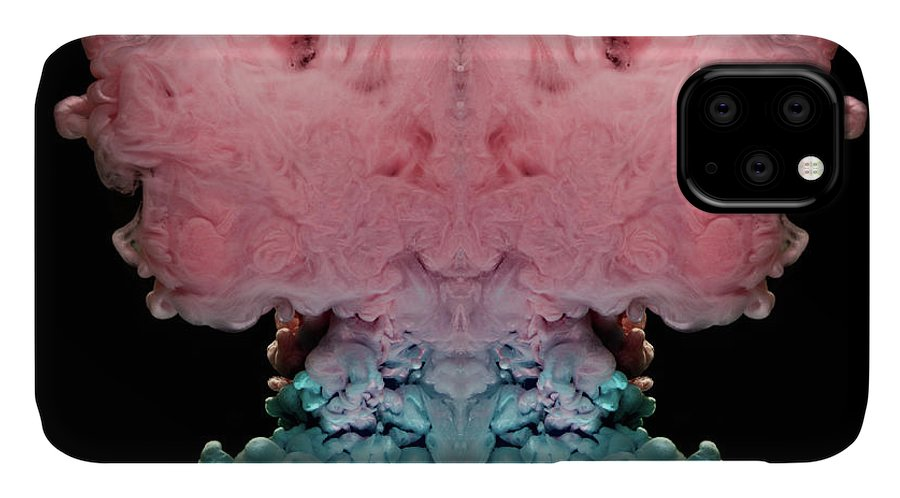 Abstract IPhone Case featuring the photograph Pink Crown Abstract by Eugene Campbell