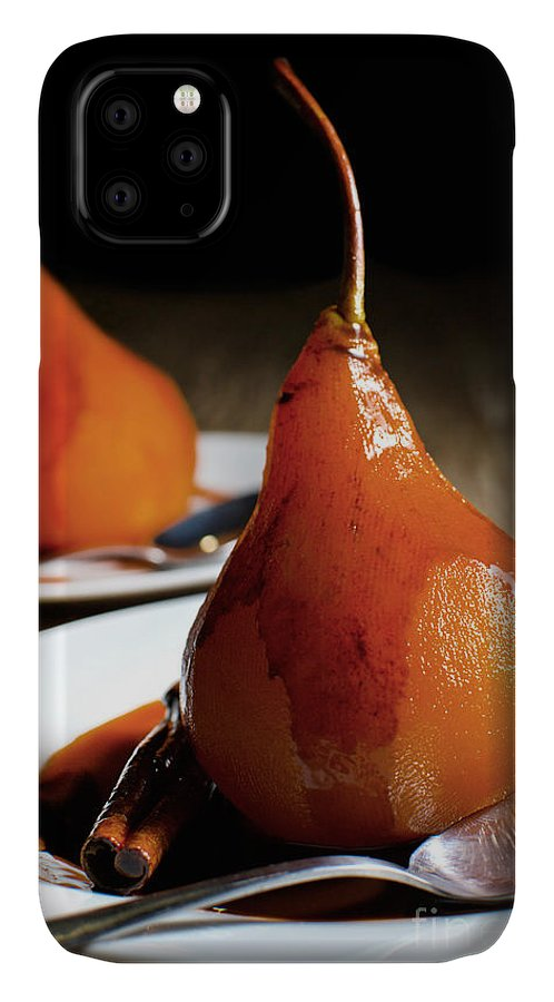 Cherry IPhone Case featuring the photograph Poached Pears With Cinnamon Syrup by Mehul Naik