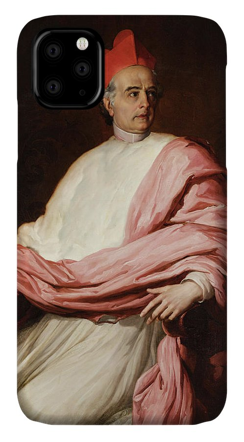 Francesco Coghetti IPhone Case featuring the painting Portrait Of Cardinal Antonio Tosti by Francesco Coghetti