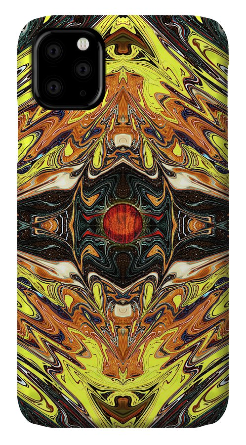 Abstract IPhone Case featuring the digital art Psych Rock by Jack Entropy