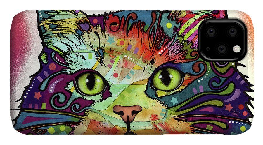 Ragamuffin IPhone Case featuring the mixed media Ragamuffin by Dean Russo