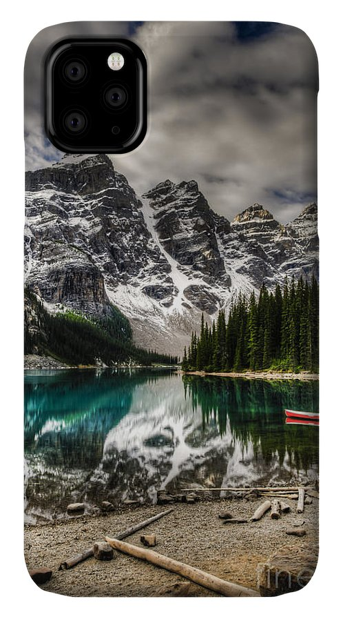 Altitude IPhone Case featuring the photograph Scenic Mountain Landscape Of Moraine by Bgsmith