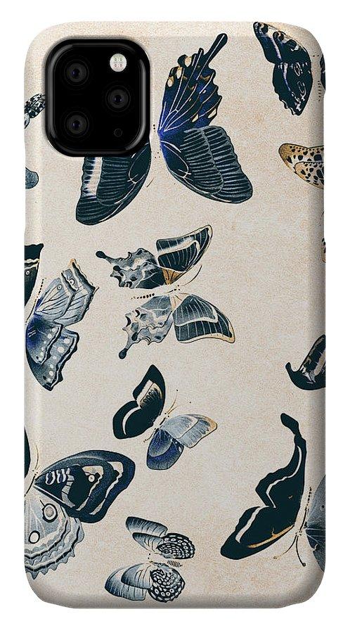 Antique IPhone Case featuring the photograph Scrapbook Butterflies by Jorgo Photography - Wall Art Gallery