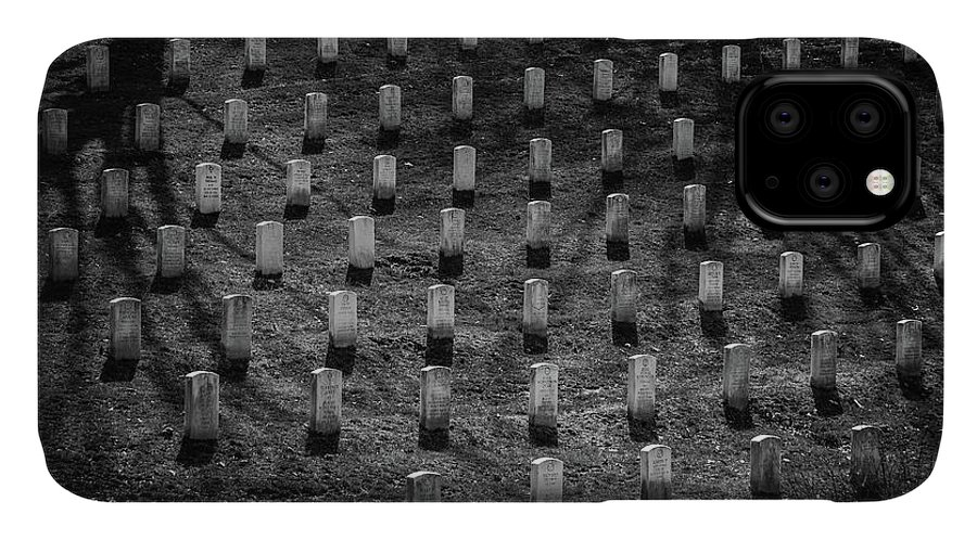 Arlington National Cemetery IPhone Case featuring the photograph Shadows At Arlington by Fred DeSousa