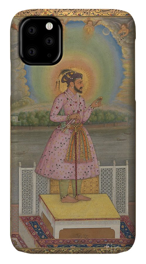 Indian IPhone 11 Case featuring the painting Shah Jahan On A Terrace by Chitarman