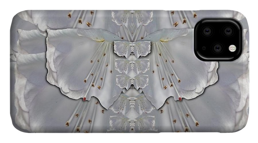 Flowers IPhone 11 Case featuring the mixed media Silky Flowers From The Bohemian Paradise In Time by Pepita Selles