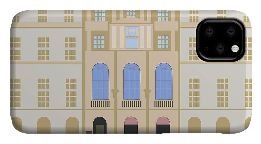 Blue IPhone Case featuring the digital art Sir John Soane's Museum by Claire Huntley