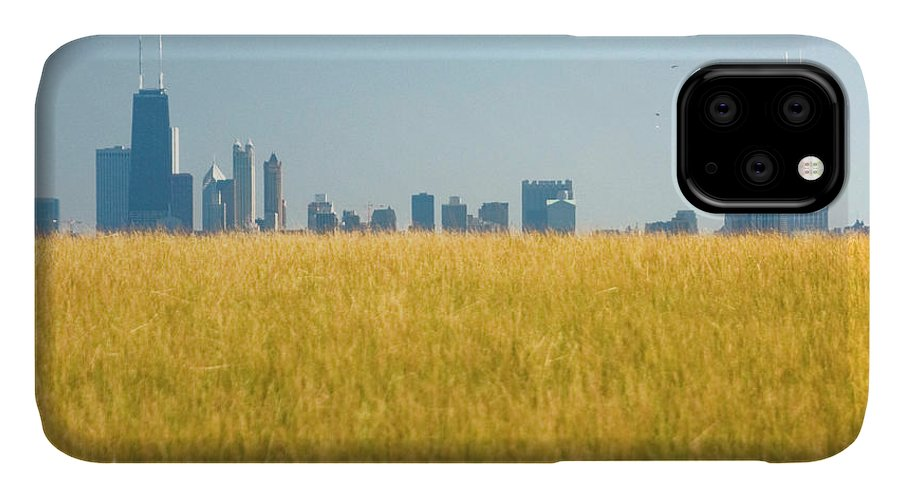 Grass IPhone Case featuring the photograph Skyscrapers Arising From Grass by By Ken Ilio
