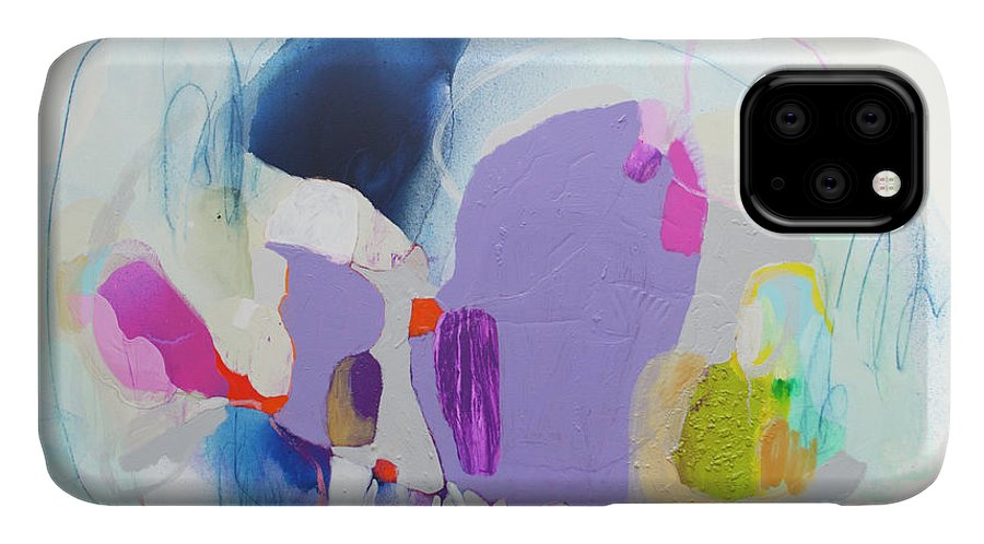 Abstract IPhone Case featuring the painting Sometime In June by Claire Desjardins