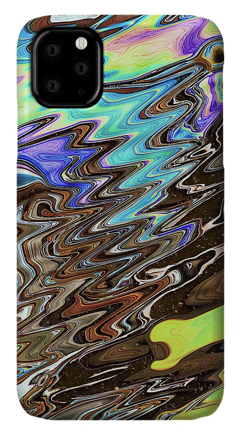 Abstract IPhone Case featuring the digital art Space-Time Continuum by Jack Entropy