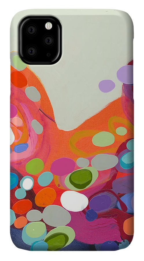Abstract IPhone 11 Case featuring the painting Spoonful Of Joy by Claire Desjardins