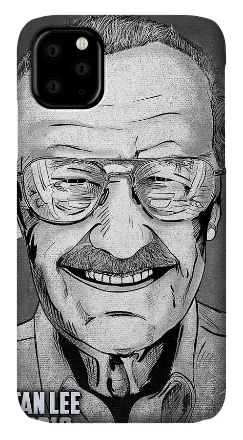 Stan Lee IPhone Case featuring the digital art Stan Lee by Joseph Burke