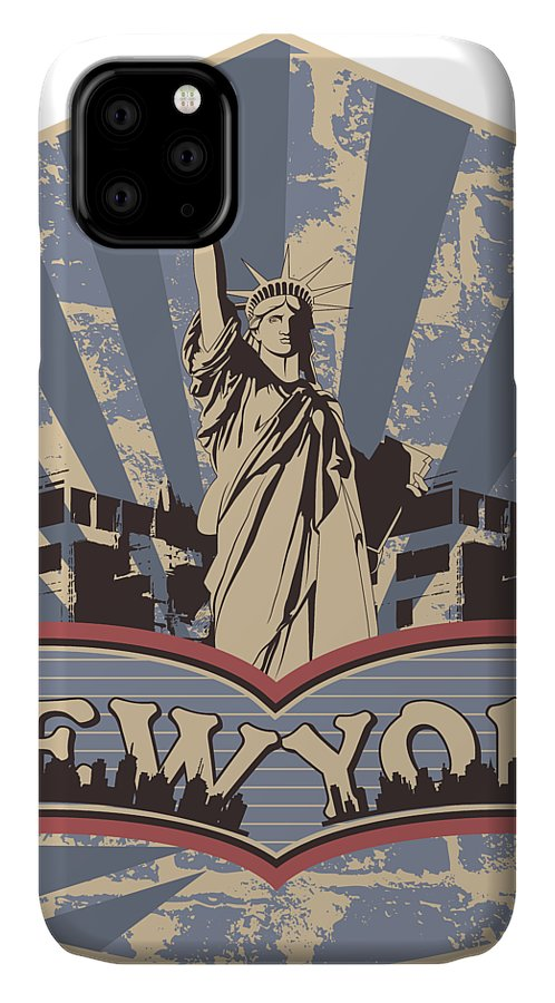 4th-of-july IPhone Case featuring the digital art Statue Of Liberty New York by Passion Loft