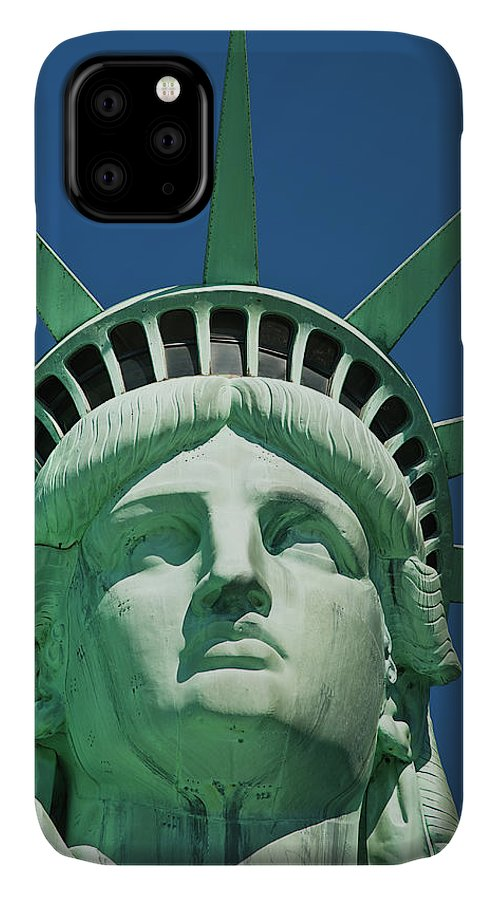 Crown IPhone Case featuring the photograph Statue Of Liberty by Tetra Images