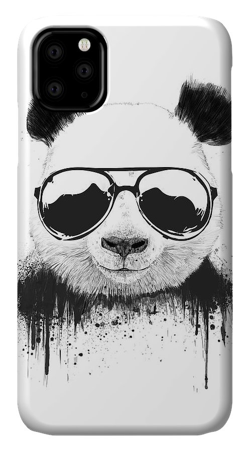Panda IPhone 11 Case featuring the mixed media Stay Cool by Balazs Solti