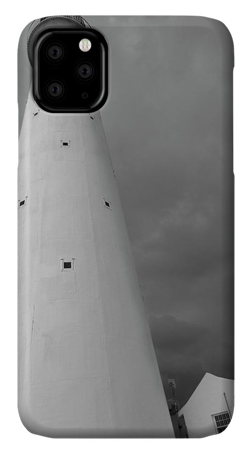 Bermuda IPhone 11 Case featuring the photograph Stormy Bermuda Lighthouse by Betsy Knapp