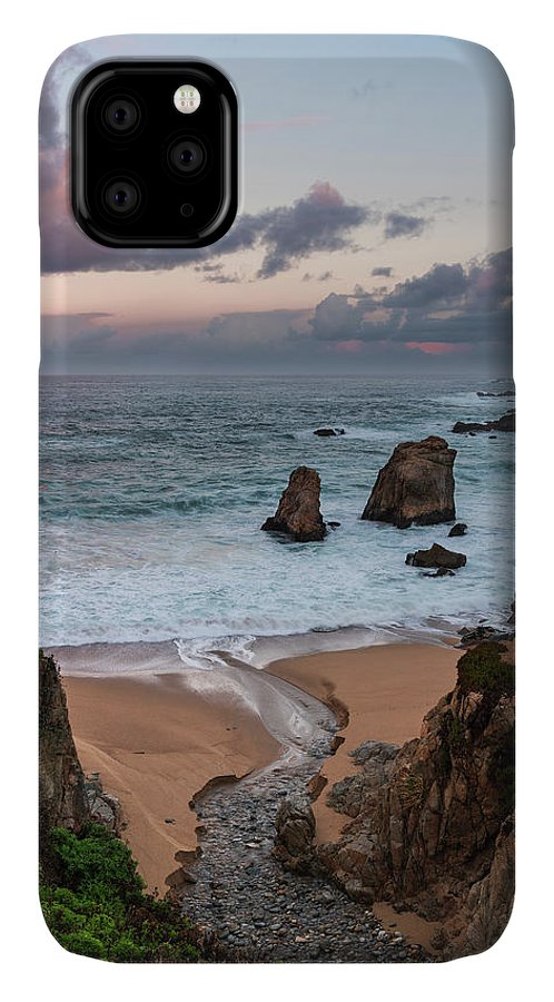 California IPhone Case featuring the photograph Stream Flowing Over A Rock by Sheila Haddad