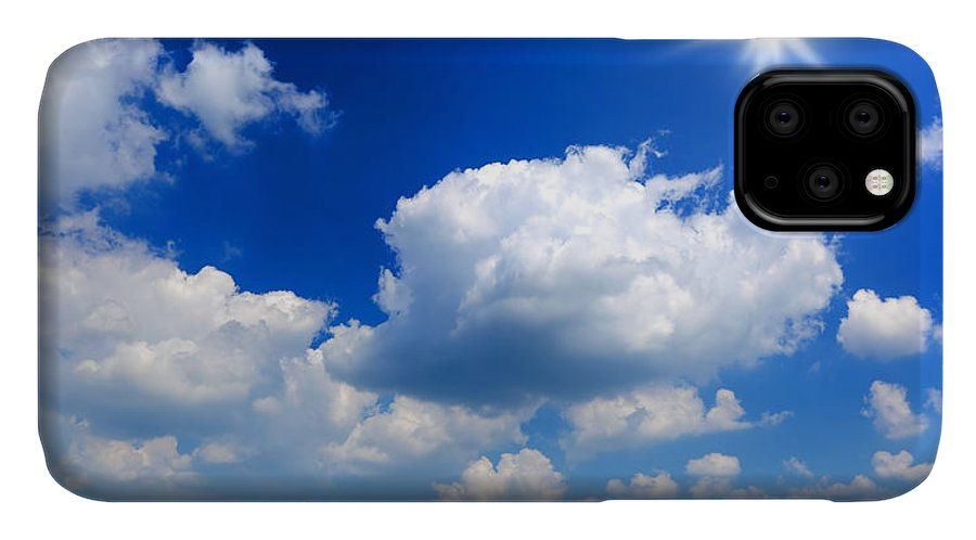 Scenics IPhone Case featuring the photograph Sun And Clouds by Macroworld