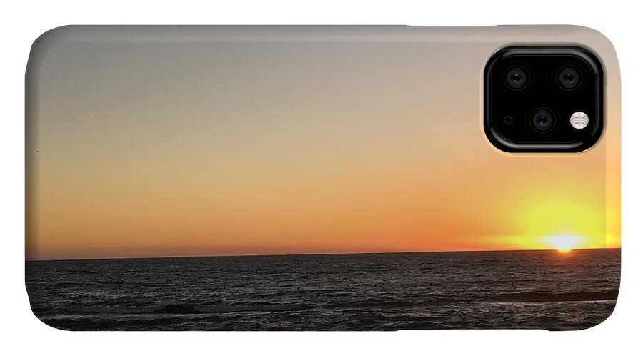 Sunset IPhone 11 Case featuring the photograph Sunset At The Sea by Epic Luis Art