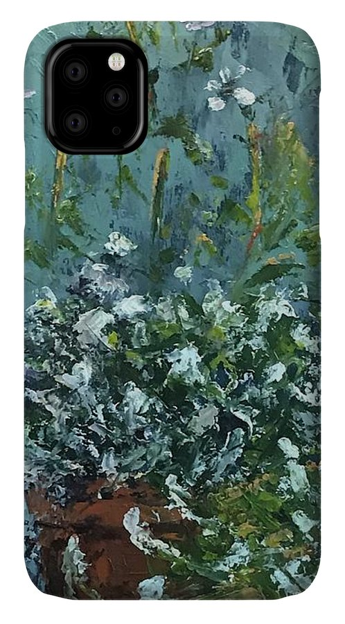 Alyssum IPhone Case featuring the pyrography Sweet Alyssum by Patricia Caldwell