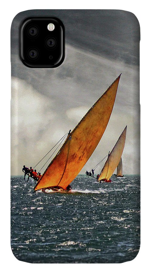 Kenya IPhone Case featuring the photograph The Art Of Swahili Dhow Racing by David Schweitzer