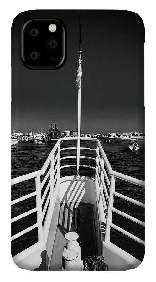 Boat IPhone Case featuring the photograph The Bow by Bob Mintie
