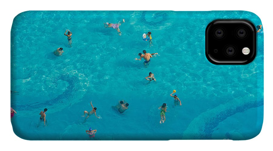 Heat IPhone Case featuring the photograph The Crowd In The Pool by Oceanfishing