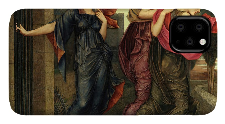 Evelyn De Morgan IPhone Case featuring the painting The Grey Sisters, Phantoms, 1881 by Evelyn De Morgan