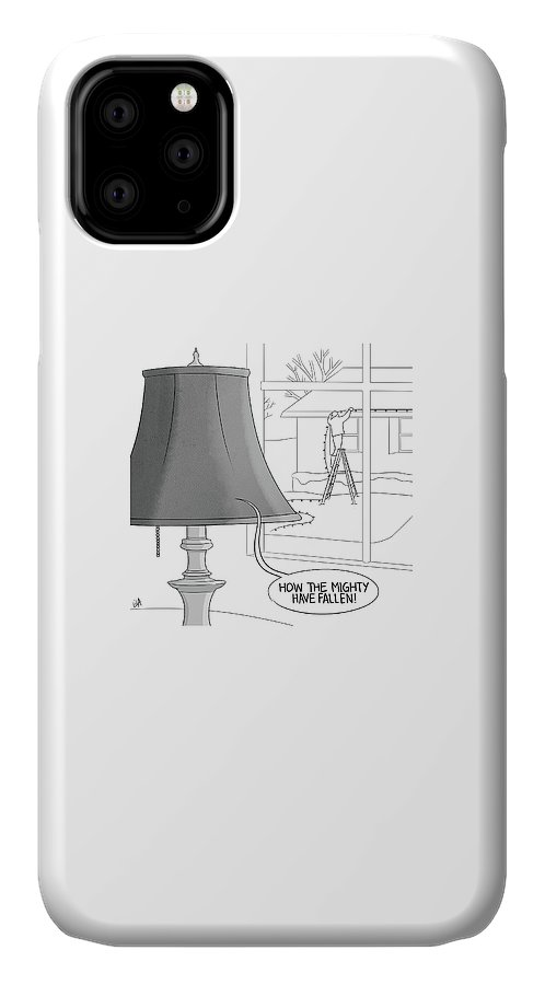 Captionless IPhone Case featuring the drawing The Mighty Have Fallen by Lila Ash