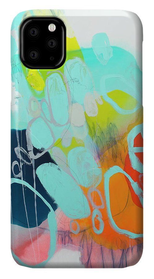 Abstract IPhone 11 Case featuring the painting The Right Thing by Claire Desjardins