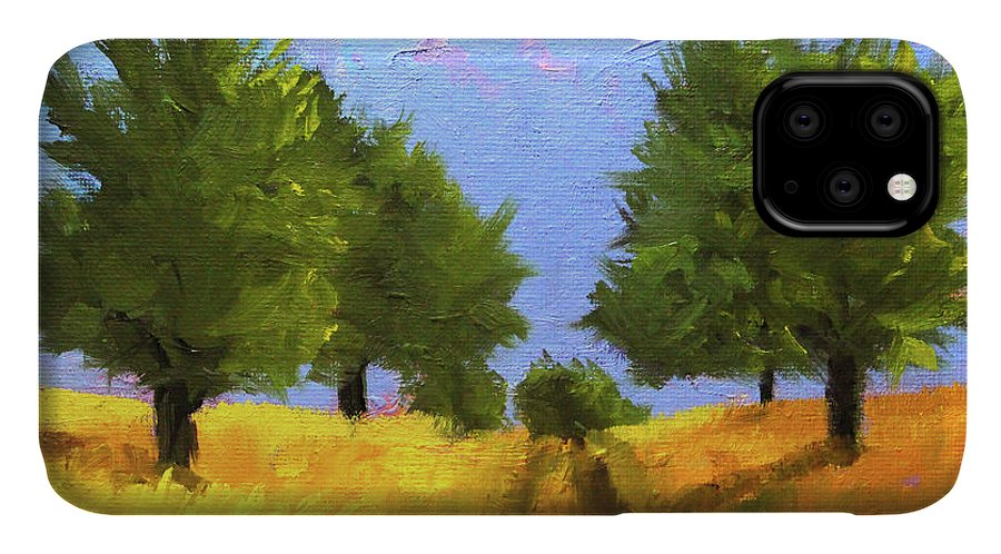 Country Road IPhone Case featuring the painting The Way Home by Nancy Merkle