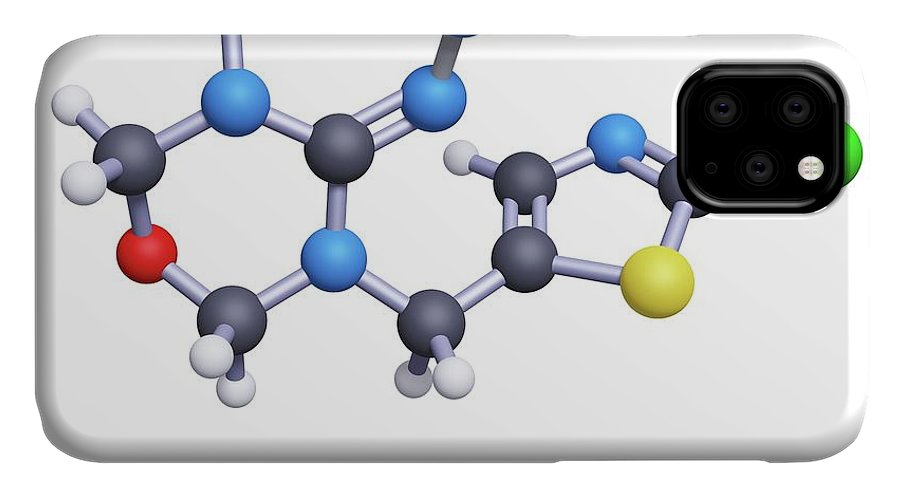 Thiamethoxam IPhone Case featuring the photograph Thiamethoxam Neonicitinoid Insecticide Molecule by Greg Williams/science Photo Library