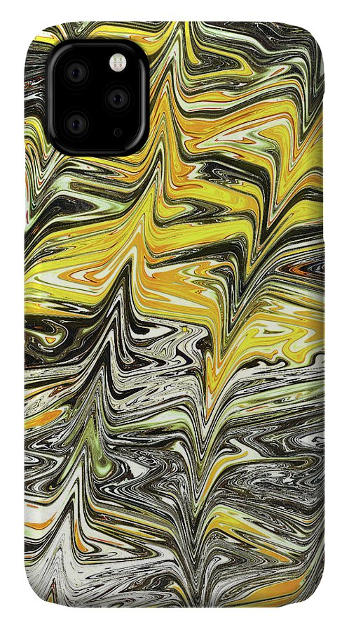 Abstract IPhone Case featuring the digital art Thunderstruck by Jack Entropy