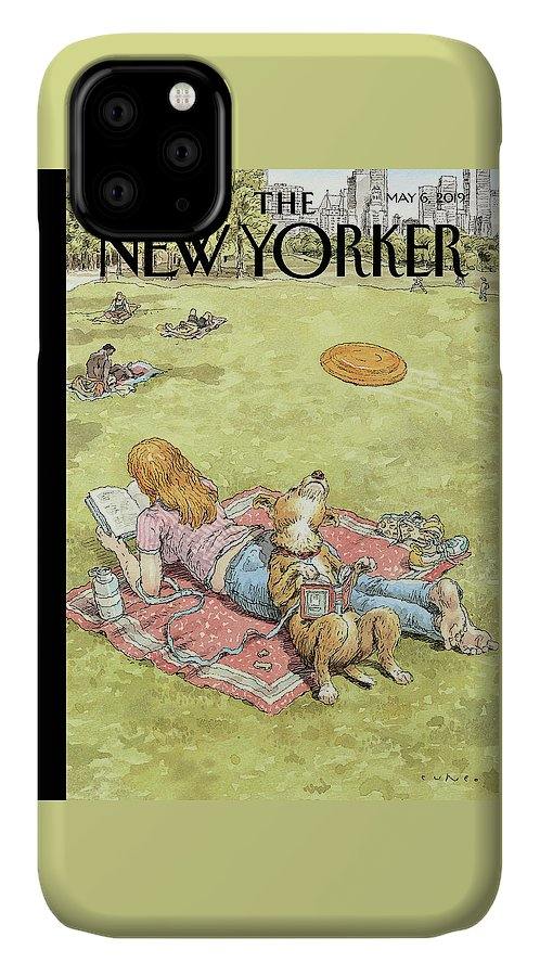 To Fetch Or Not To Fetch IPhone Case featuring the painting To Fetch Or Not To Fetch by John Cuneo