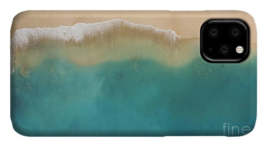 Beauty IPhone 11 Case featuring the photograph Top View Aerial Photo From Flying Drone by Gaudilab