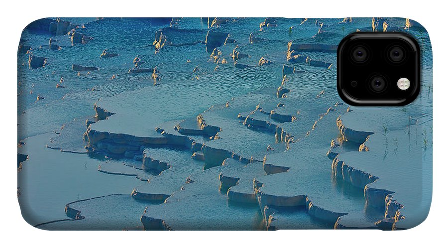 Agua IPhone 11 Case featuring the photograph Tourist On Travertine Terraces by Keren Su