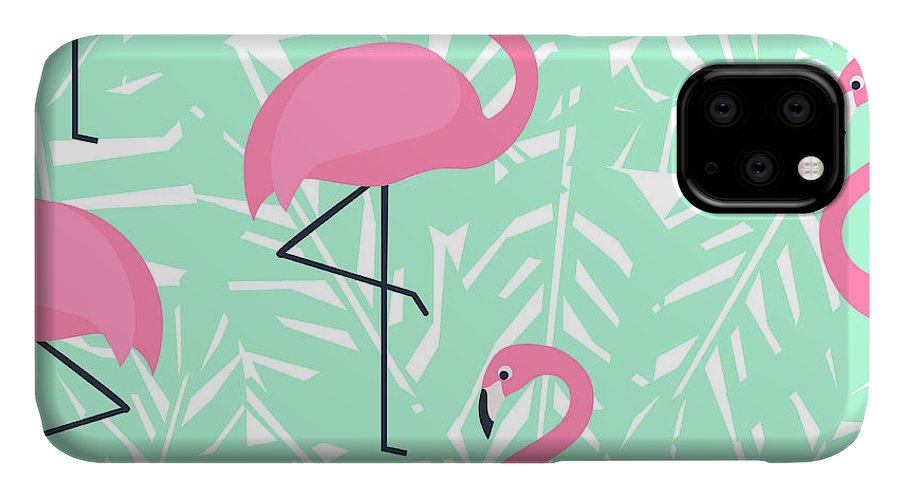 Beauty IPhone 11 Case featuring the digital art Tropical Trendy Seamless Pattern With by In dies magis