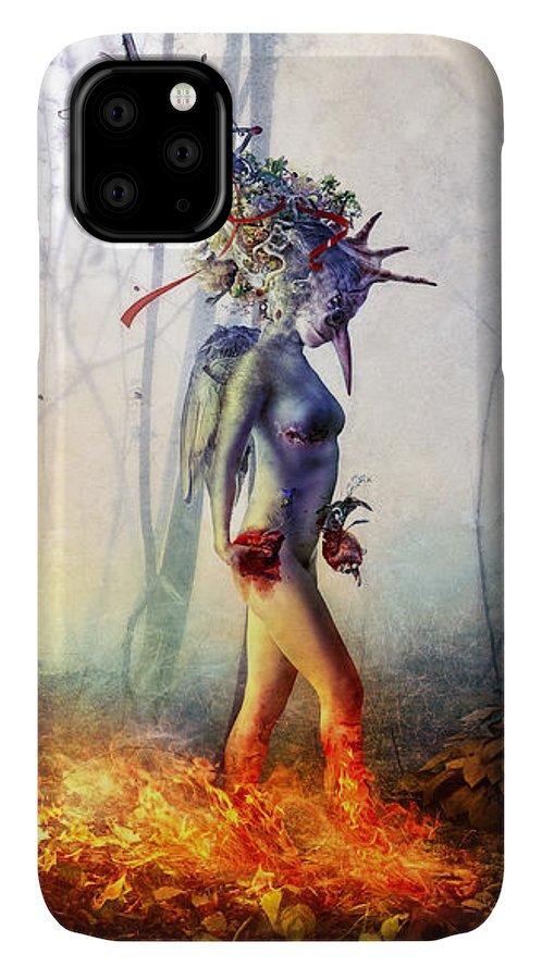 Surreal IPhone Case featuring the digital art Trust in me by Mario Sanchez Nevado