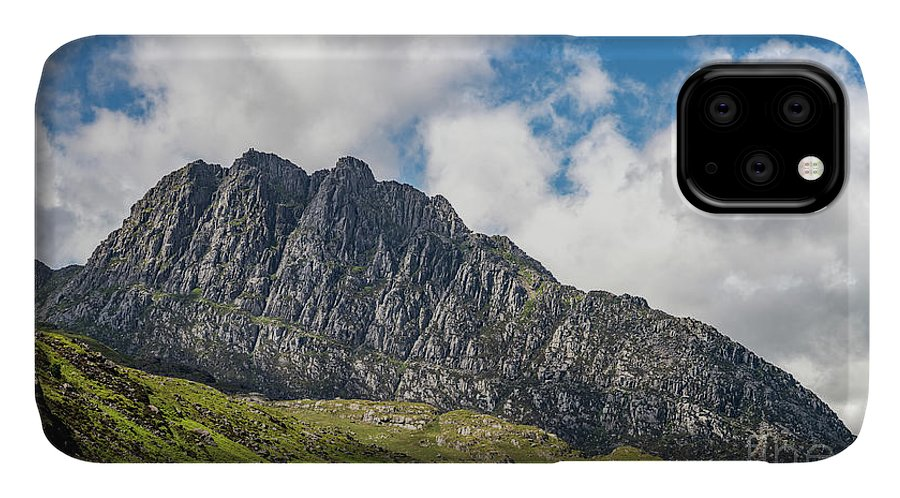 Tryfan Mountain IPhone Case featuring the photograph Tryfan Mountain East Face Snowdonia by Adrian Evans