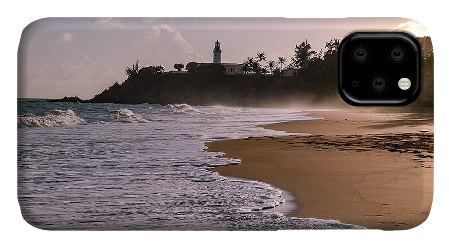 Ocean IPhone 11 Case featuring the photograph Tuna Punta Lighthouse And Beach In Puerto Rico by G Matthew Laughton