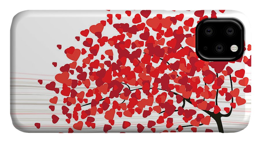 Magic IPhone Case featuring the digital art Valentines Day Abstract With Dandelion by Lupulluss