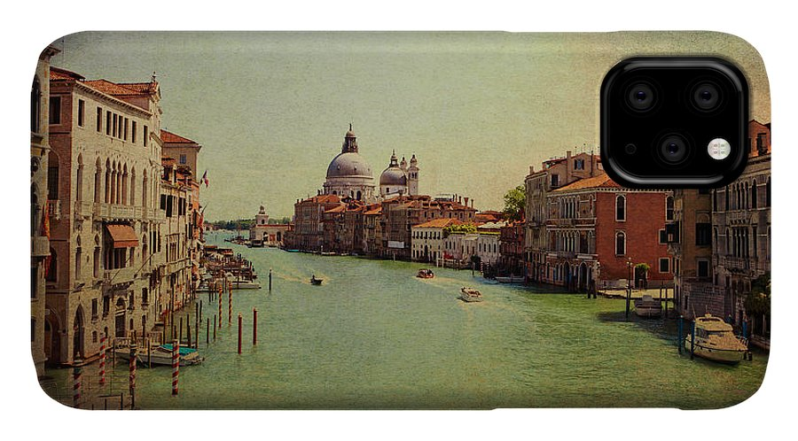 View IPhone 11 Case featuring the photograph Venice, Italy - Grand Canal And The Baroque Domes Of Sai by Luisa Vallon Fumi